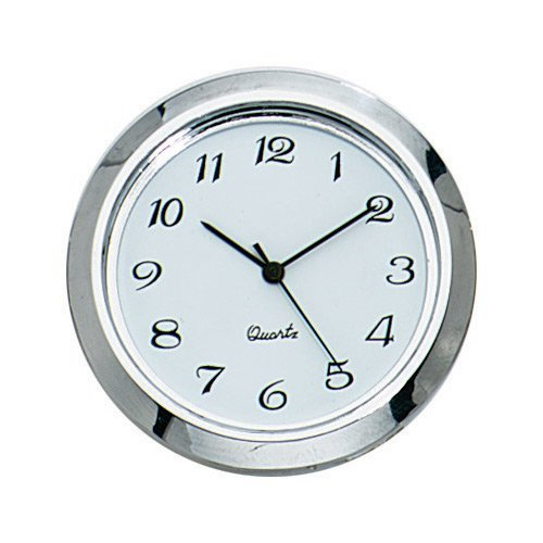 1-7/16'' Miniature Clock Insert with Arabic Numerals ()