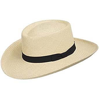 55df88ad004 Image Unavailable. Image not available for. Color  Ultrafino Gambler Woods  Panama Straw Hat Natural Brim Beach Golf Club 6 7 8