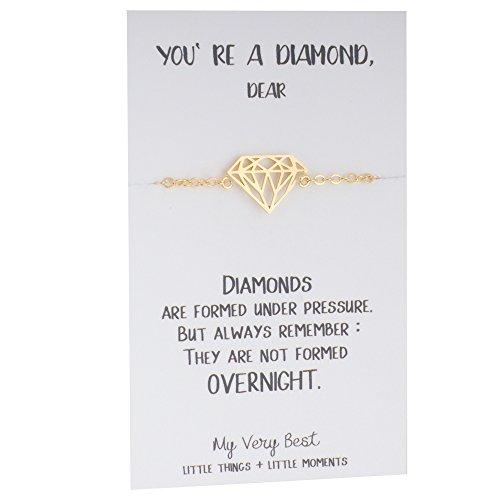 My Very Best Diamond Shape Bracelet (gold plated - Shape Best