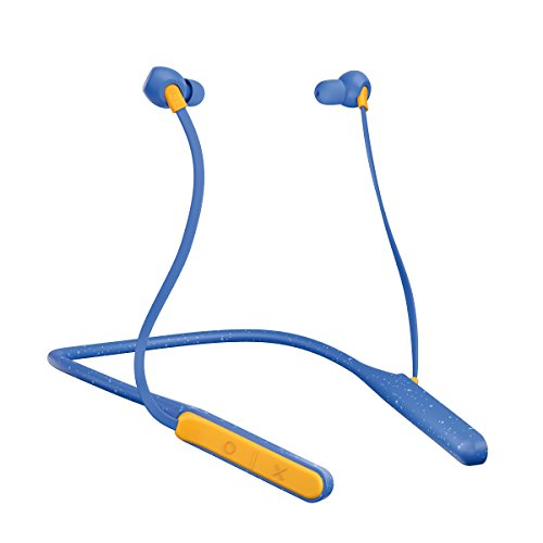 JAM Tune In Bluetooth Neckband Style Headphones  30 ft. Range, 12 Hour Playtime, Hands-Free Calling, Sweat and Rain Resisitant IPX4  Workout Earbuds Cream Blue