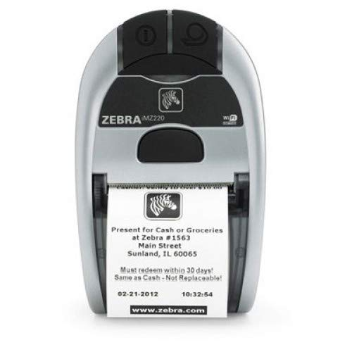 "Zebra Technologies Corporation - Zebra Imz220 Direct Thermal Printer - Monochrome - Portable - Receipt Print - 1.90"" Print Width - 4 In/S Mono - 203 Dpi - Bluetooth - Usb - Battery Included ""Product Category: Printers/Label/Receipt Printers"" from Zebra Technologies"