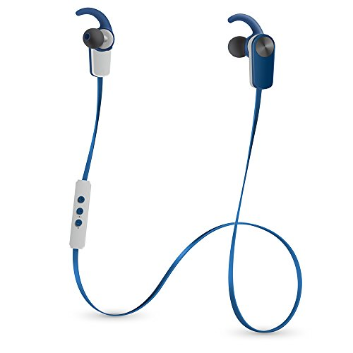 Photive PH-EB100 Sweat-Proof Wireless Bluetooth 4.1 Stereo Earbuds with Built in Microphone (Blue)