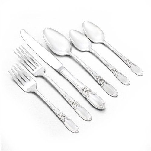 White Orchid by Community, Silverplate 6-PC Setting, Dinner