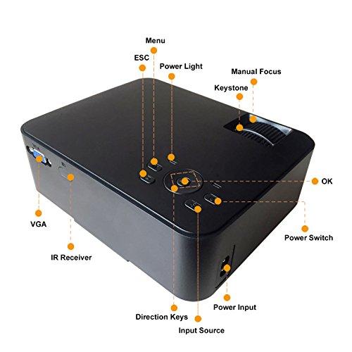 Artlii Proyector portátil, cine en casa, proyector HD de ...