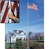 20' White SunSetter Flagpole