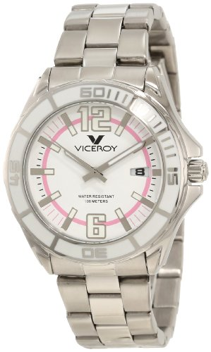 Viceroy Women's 40672-95 White Dial Stainless steel Date Watch