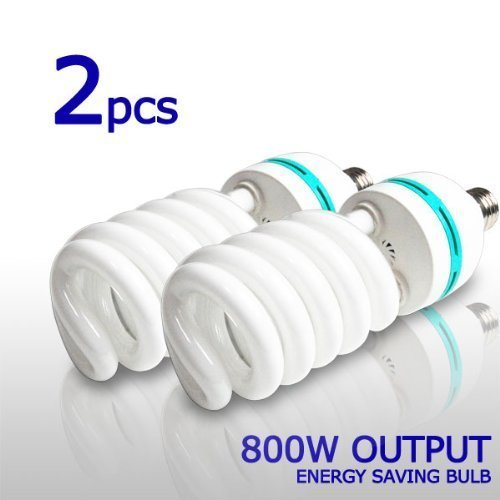 2 X Photo (2 x Photo Studio Photography 105 Watt 6500K Day Light Fluorescent Full Spectrum Bulb,)