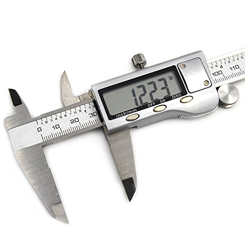 Electronic Digital Caliper with Extra Large LCD Screen , Inch/Metric/Fractions Conversion 0-6 Inch/150 mm Stainless Steel Auto Off Featured Measuring Tool Vernier Calipers Extreme Accuracy by DFUTE (Image #5)