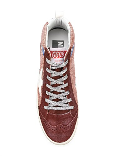 Golden Goose Ladies G32ws634i1 Sneakers Marrone Glitter Alte