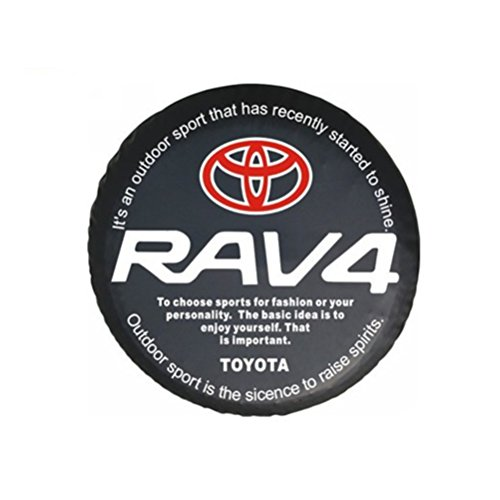 Tire Spare Rav4 (Bobbycool PVC Car Spare Wheel Cover Spare Tire Cover 16 Inch For SUV TOYOTA RAV4)