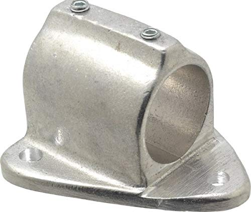 Hollaender - 1-1/2 Inch Pipe, Wall Mount Flange, Aluminum Alloy Pipe Rail Fitting