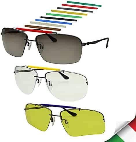 e99f2b4c69f Bnus Men s Outdoor Sport Casual DIY Sunglasses Titanium 3 style  Interchangeable Lenses (Gunmetal