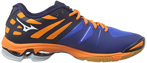 MizunoWave Lightning Z - Scarpe Sportive Indoor Uomo Blu (Blau (Directblue/White/Orange 22))