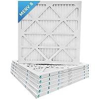 16x16x1 Merv 8 Pleated AC Furnace Air Filters. Box of 6
