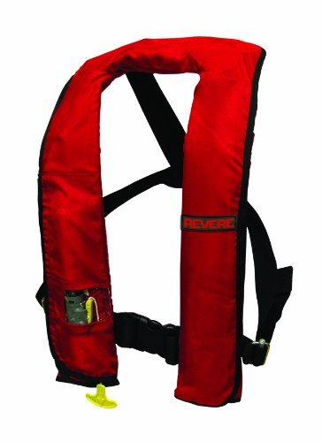 - Revere Comfort Max Manual Inflatable PFD - Red