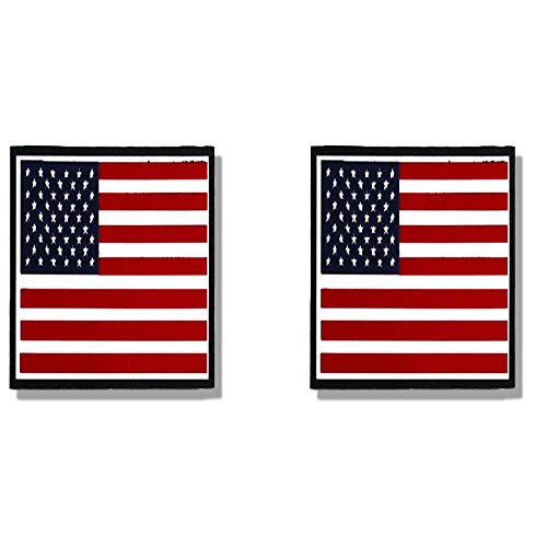 Leathers Sticker Helmet Hot (Hot Leathers, 2 x AMERICAN FLAG - Small, Bikers Motorcycle Helmet, Sticker DECAL (Pair) - 3