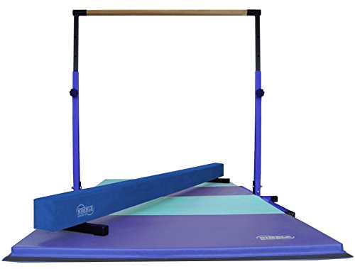 Little Gym – Blue Adjustable Horizontal Bar – Blue Low Balance Beam – Blue/Light Blue Gymnastics Folding Mat
