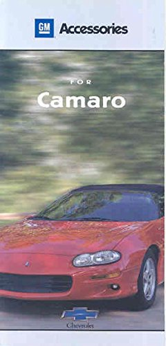 2001 Chevrolet Camaro Accessories Sales (Camaro Sales Brochure)