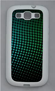 Rainbow dotted pattern Custom Design Samsung Galaxy S3 Case Cover - TPU Silicone - White