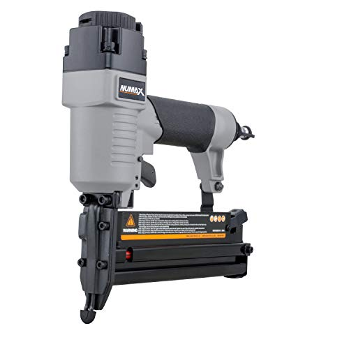 "NuMax S2-118G2 Pneumatic 2-in-1 18-Gauge 2"" Brad Nailer and Stapler Ergonomic and Lightweight Combo Brad and Staple Gun with Tool-Free Finger Depth Adjust"