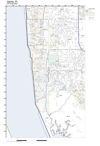 Amazon Com Zip Code Wall Map Of Naples Fl Zip Code Map Laminated