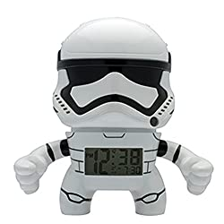 BulbBotz Star Wars 2020015 Stormtrooper Kids Light up Alarm Clock | White/Black | Plastic | 7.5 inches Tall | LCD Display | boy Girl | Official