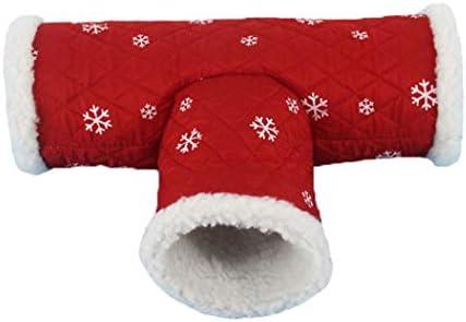 ハムスタートンネル小さいペット巣3チャンネル寝袋動物チューブ隠れ家ベッド