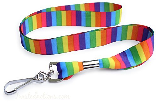 (Rainbow Pride Color Spectrum Soft Printed ID Neck Lanyard for Badges)