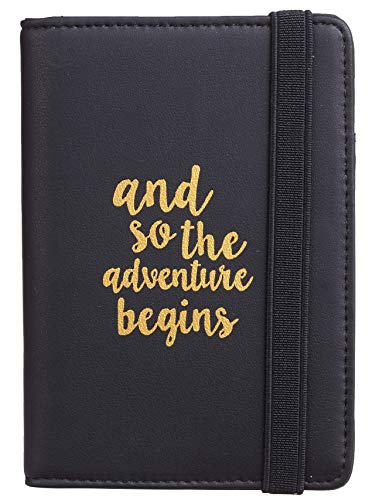 Casmonal Passport Holder Cover Wallet RFID Blocking Leather Card Case Travel Document Organizer (Napa Black)