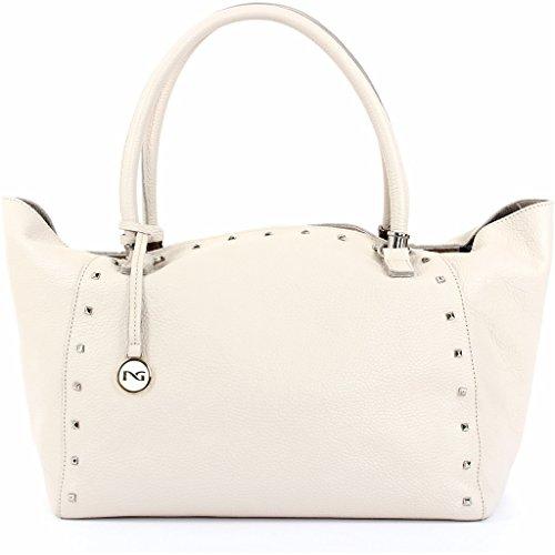 Handles Women Bag Giardini Handbag Nero Two Latte 506 P643081d With 1aqnC