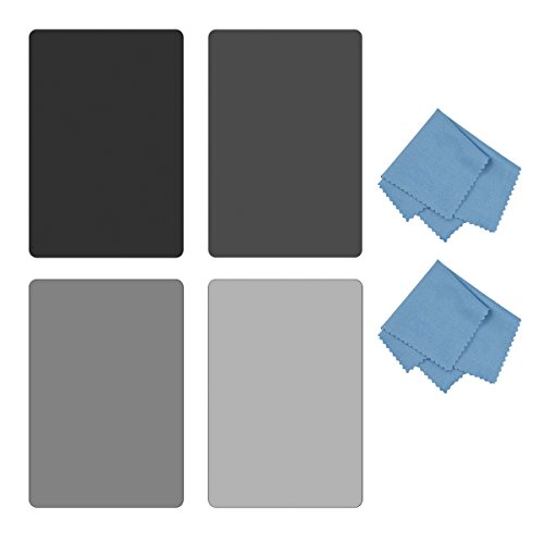 SIOTI Square Filter Kit 4X6 (100X150mm) with ND2 & ND4 & ND8 & ND16 for Cokin Z Lee Hitech Sioti Holder (ND)