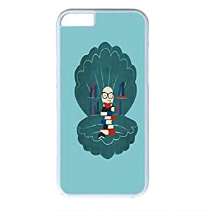 Pearl of Wisdom Custom Back Phone Case for iphone 6 4.7 PC Material White -1218361
