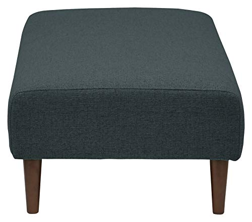Rivet Ava Modern Extra-Long Upholstered Ottoman with Tapered Legs, 63.4