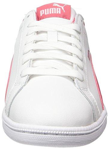 Puma Smash Fun L Jr, Zapatillas Unisex Niños Blanco (White-Rapture Rose)