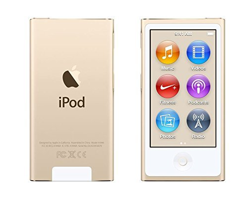 Apple iPod Nano 16GB Gold 8th Generation Extra Accessories LATEST MODEL Released July 2015