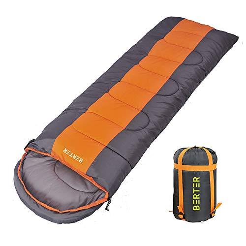 BERTER Camping Sleeping Bag - 3 Season Warm & Cool Weather Lightweight, Portable, Waterproof Sleeping Bag for Adults, Kids, Indoor, Outdoor, Camping Traveling and Hiking