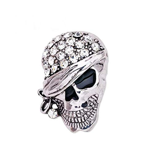 Gothic Punk Skull Skeleton Brooch Lapel Pin Halloween Party Costume Jewelry (Item - 11) ()