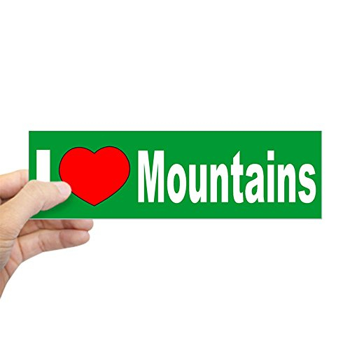 "CafePress - I Love Mountains West Virginia Bumper Sticker - 10""x3"" Rectangle Bumper Sticker Car Decal"