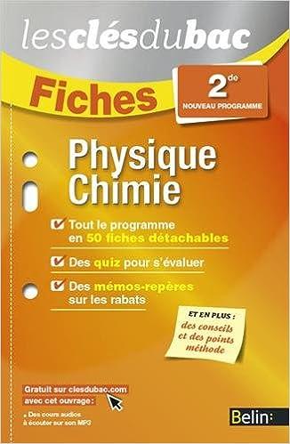 En ligne téléchargement Physique-Chimie 2DE - Les Clés du Bac pdf ebook