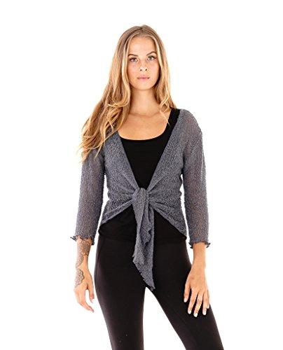 Shu Shi Womens Sheer Cardigan Lightweight product image