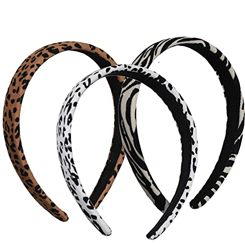 Headbands for Women, 3 Packs Mixed Printed Fabric Hair Band, Knot Hairbands Hair Accessories for Daily Wearing, Dating, Sports
