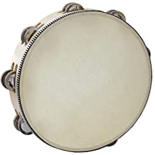 Kalos by Cecilio KP_TMW10-2C 10-Inch Wooden Tambourine with 16 Pairs of Jingles