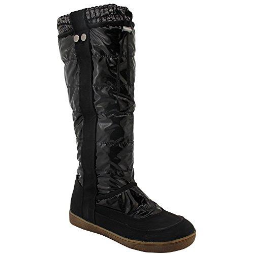 Unbekannt - botas de nieve Mujer Negro - negro