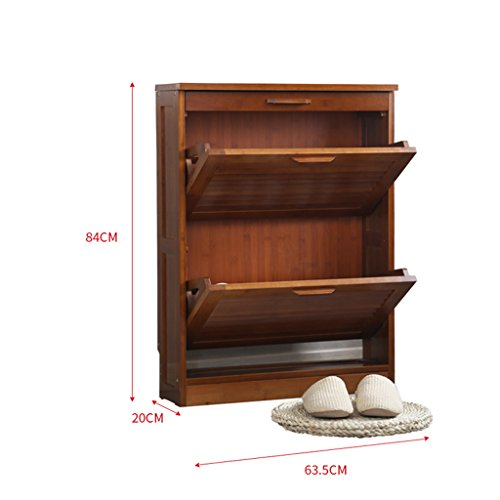 LXYFMS Chinese Retro Dump Shoe Cabinets Hall Slim Storage Cabinets Shoe Rack (Size : Double Layers)