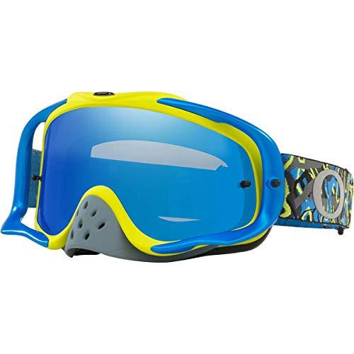Oakley Crowbar MX Adult Off-Road Motorcycle Goggles - Camo Vine Night Blue Green/Black Ice Iridium &Clear ()
