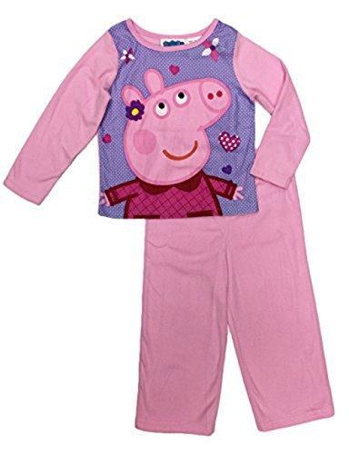 Peppa Pig Girls Infant/Toddler Pink 100% Cotton Long Sleeve Pajama Set (18 months)