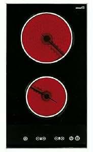 Teka - Vitroceramica Modular Indep. Teka Vttc2P1, 2 Fuegos, Digital, Biselado, Doble Zona