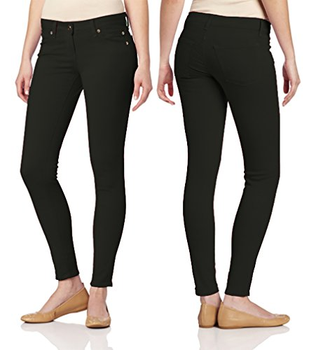 Dinamit Jeans Juniors's Color Skinny Leggings Like Jeans Black 7 by Dinamit Jeans