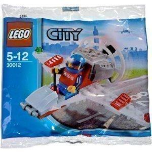 LEGO City Mini Figure Set #30012 Mini Airplane (Lego City Mini Figure)