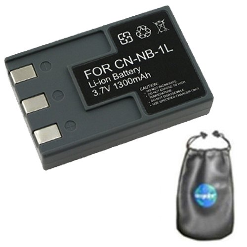 Amsahr B-NB1L Digital Replacement Camera and Camcorder Battery for Canon NB1L, NB1LH (Canon Nb 1lh Rechargeable Battery)